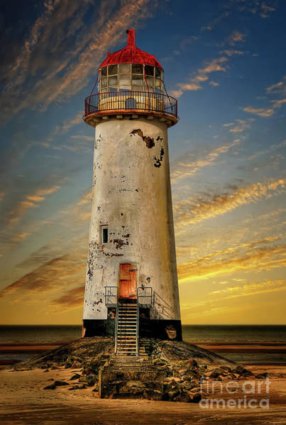 Photograph - Point Of Ayr Lighthouse Sunset by Adrian Evans