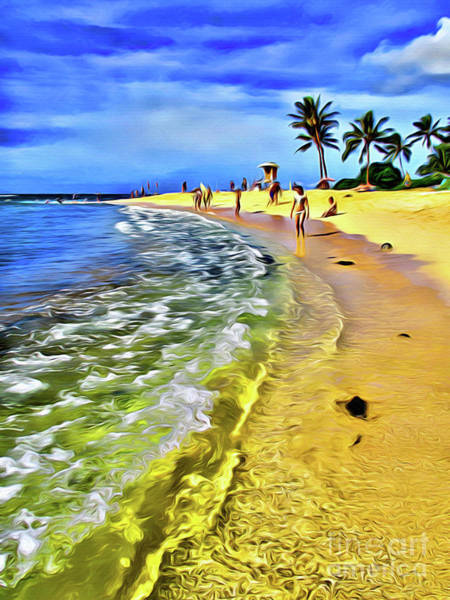 Wall Art - Photograph - Poipu Beach Kauai Hawaii by Jerome Stumphauzer