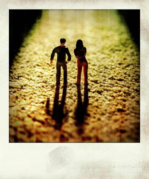 Wall Art - Photograph - Polaroid Effect Of Figurine And Light, France, Europe by Bernard Jaubert