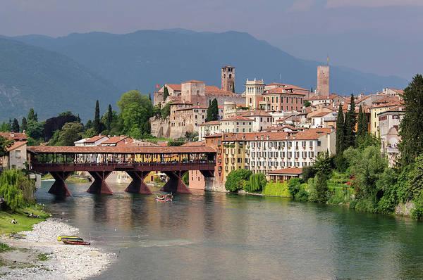 River Photograph - Ponte Vecchio In Bassano Del Grappa by Massimo Calmonte (www.massimocalmonte.it)