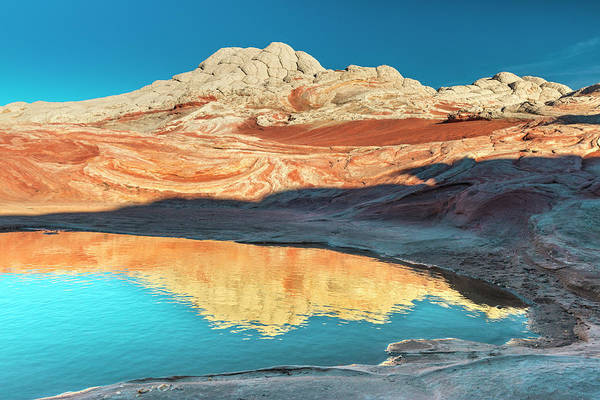 Wall Art - Photograph - Pool Reflection And Sandstone by Howie Garber