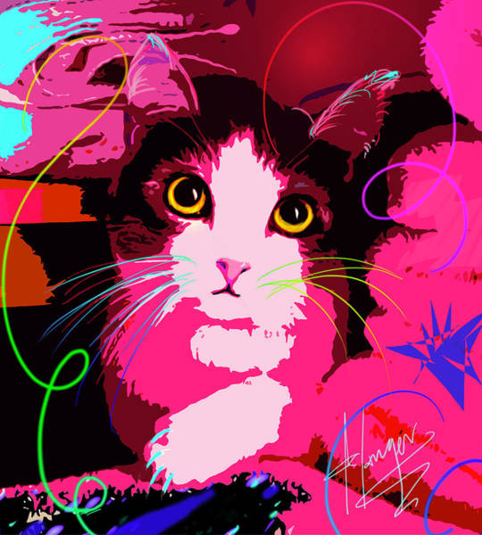 Painting - pOp Cat Callie by DC Langer