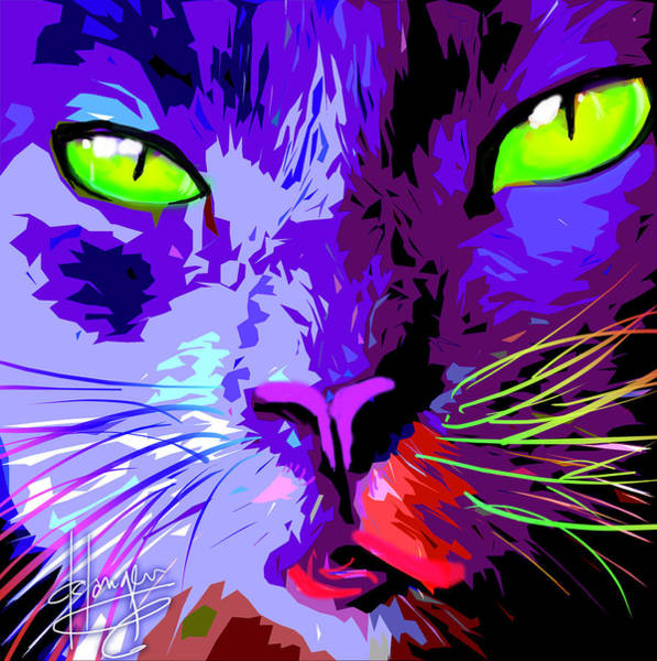 Painting - pOpCat Slick by DC Langer