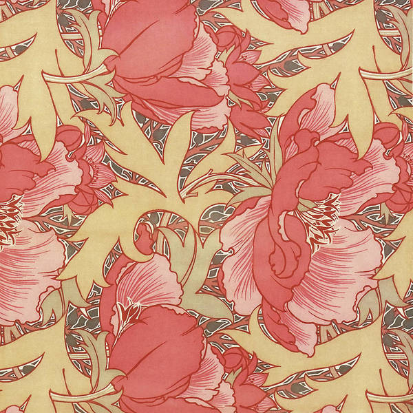 Painting - Poppies by William Morris