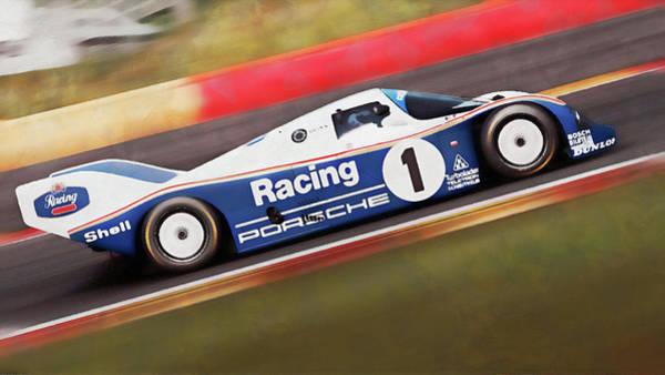 Painting - Porsche 962c Spa Francorchamps - 14 by Andrea Mazzocchetti