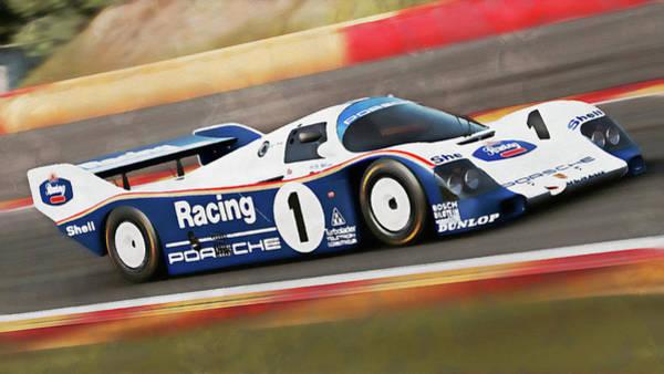 Painting - Porsche 962c Spa Francorchamps - 16 by Andrea Mazzocchetti