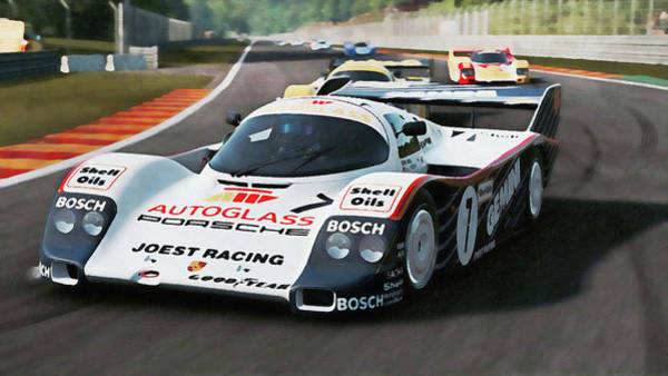 Painting - Porsche 962c Spa Francorchamps - 17 by Andrea Mazzocchetti