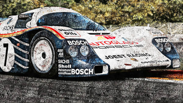 Painting - Porsche 962c Spa Francorchamps - 18 by Andrea Mazzocchetti