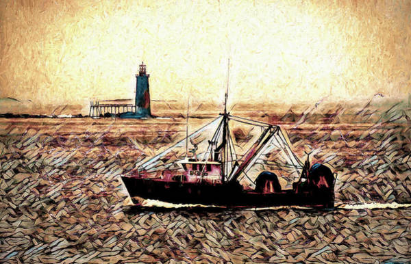 Painting - Portland Harbor  by Bob Orsillo