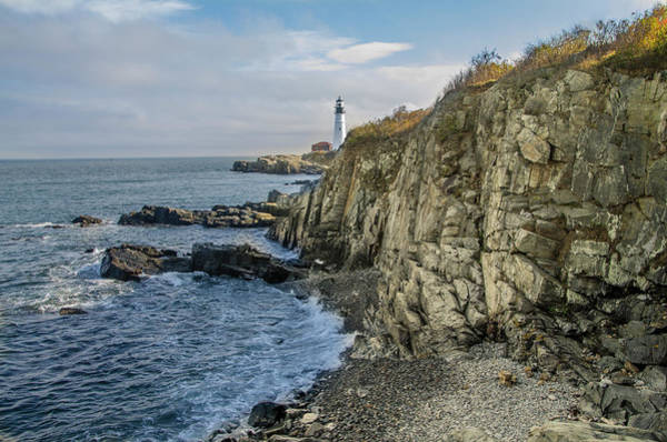 Photograph - Portland Head Lighthouse - Cape Elizabeth - Maine by Bill Cannon