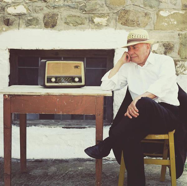 Sun Hat Photograph - Portrait Of A Senior Man by Thanasis Zovoilis
