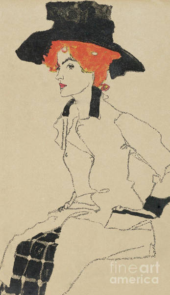 Wall Art - Painting - Portrait Of A Woman, 1910  by Egon Schiele