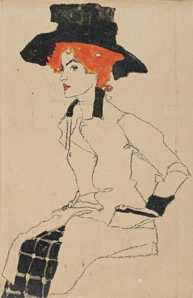 Drawing - Portrait Of A Woman 2 by Egon Schiele
