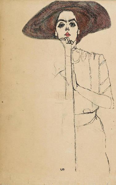 Photograph - Portrait Of A Woman 3 by Egon Schiele