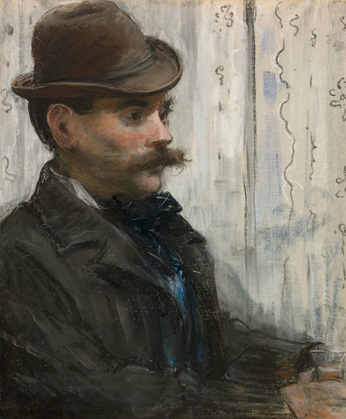 Wall Art - Pastel - Portrait Of Alphonse Maureau by Edouard Manet