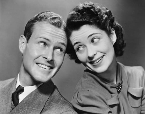 Kitsch Photograph - Portrait Of Couple by George Marks