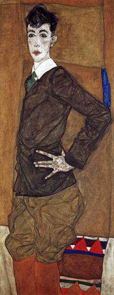Wall Art - Painting - Portrait Of Erich Lederer, 1912 by Egon Schiele
