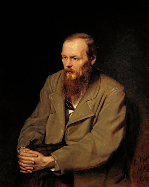 Wall Art - Painting - Portrait Of Fedor Dostoyevsky by Vasily Perov