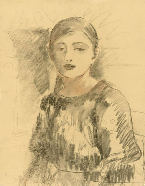 Wall Art - Drawing - Portrait Of Julie Manet by Berthe Morisot