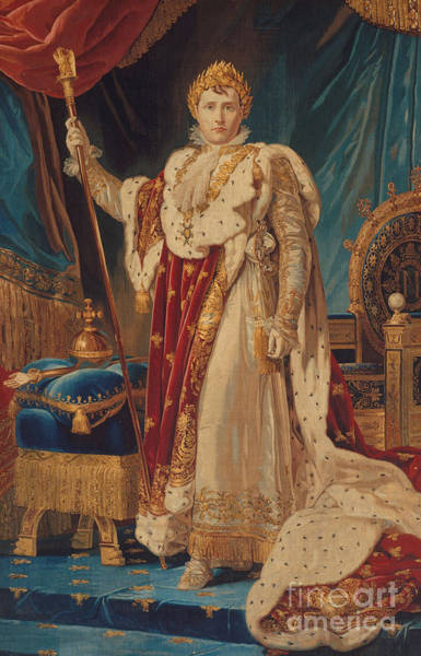 Wall Art - Painting - Portrait Of Napoleon I by French School