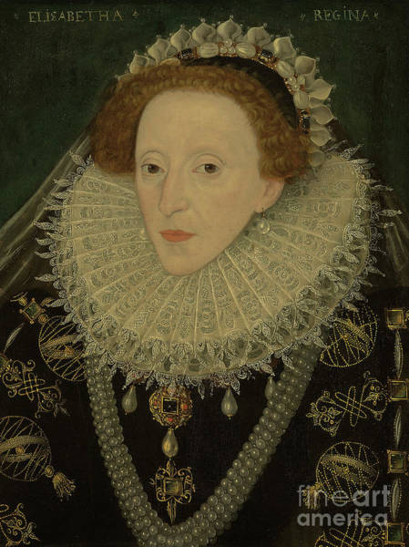 Embroidery Painting - Portrait Of Queen Elizabeth I by English School