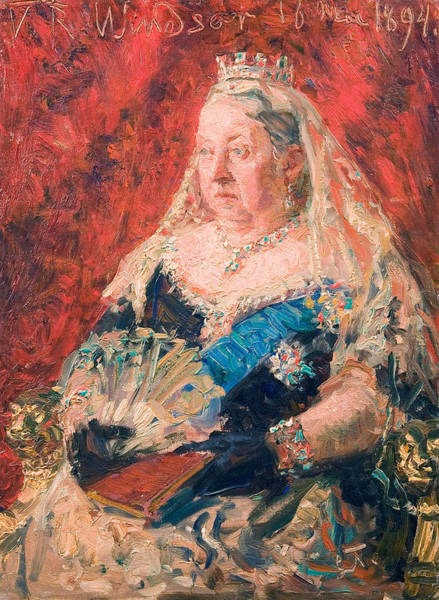 Painting - Portrait Of Queen Victoria by Laurits Tuxen