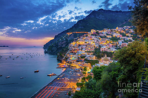 Wall Art - Photograph - Positano Evening by Inge Johnsson