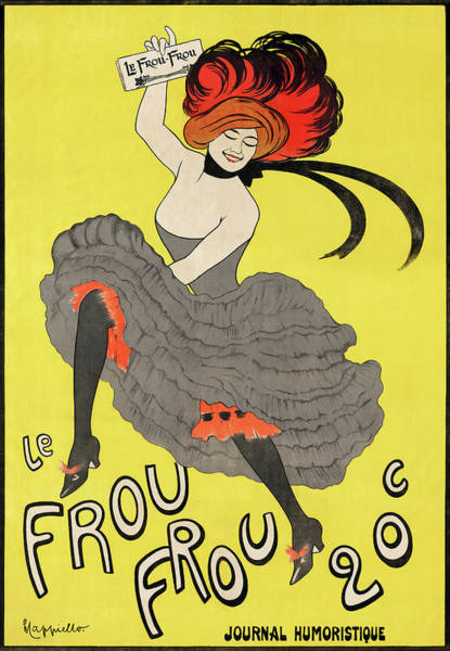 Burlesque Dancer Photograph - Poster By Leonetto Cappiello by Graphicaartis