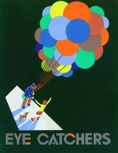 Poster With Balloon Vendor Art Print