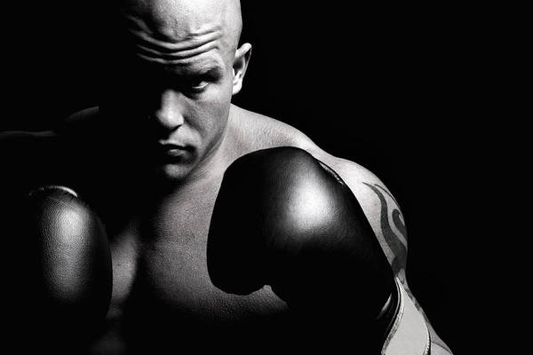 Competitive Sport Photograph - Powerful Fighter Portrait by Vuk8691