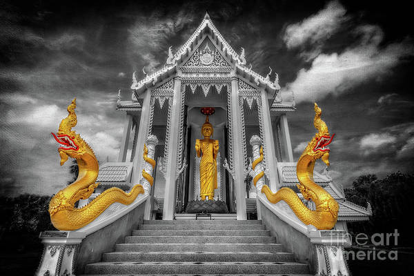 Wall Art - Photograph - Pranburi Temple by Adrian Evans