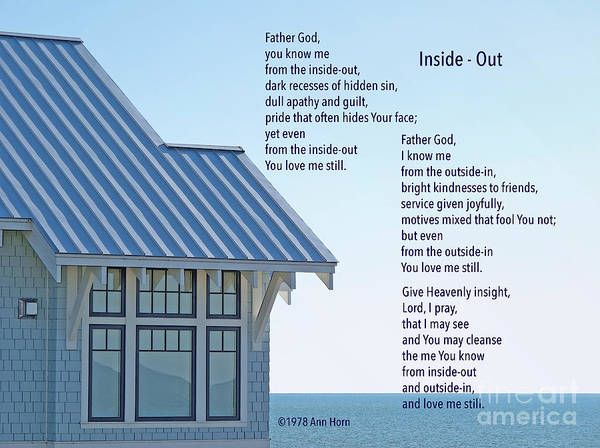 Photograph - Prayer Poem by Ann Horn