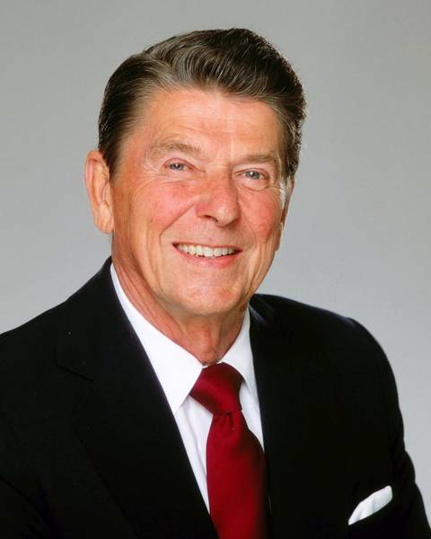 Us President Photograph - President Ronald Reagan Portrait Session by Harry Langdon