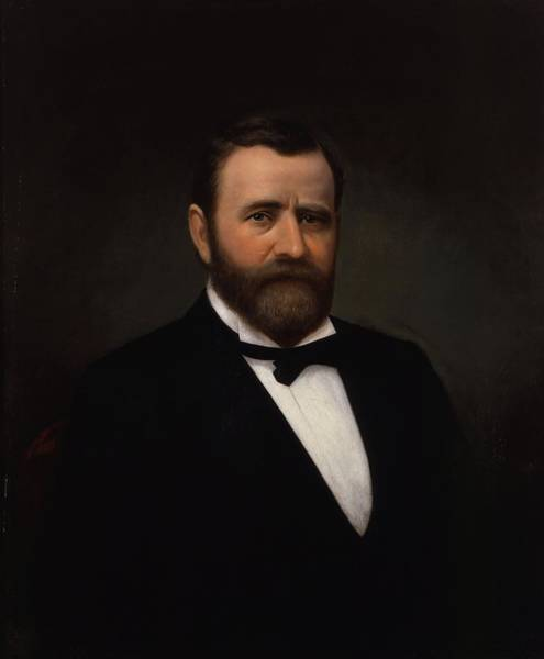 U. S. Presidents Wall Art - Painting - President Ulysses Grant - Two by War Is Hell Store