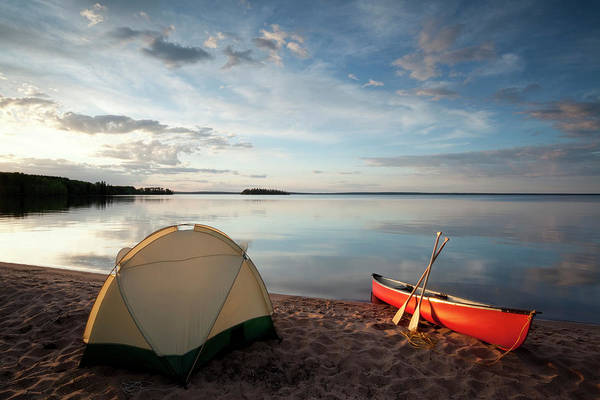 Tent Photograph - Prince Albert National Park Saskatchewan by Mysticenergy