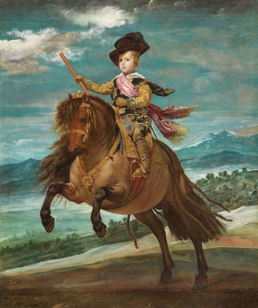 Velazquez Wall Art - Painting - Prince Baltasar Carlos On Horseback by Diego Velazquez