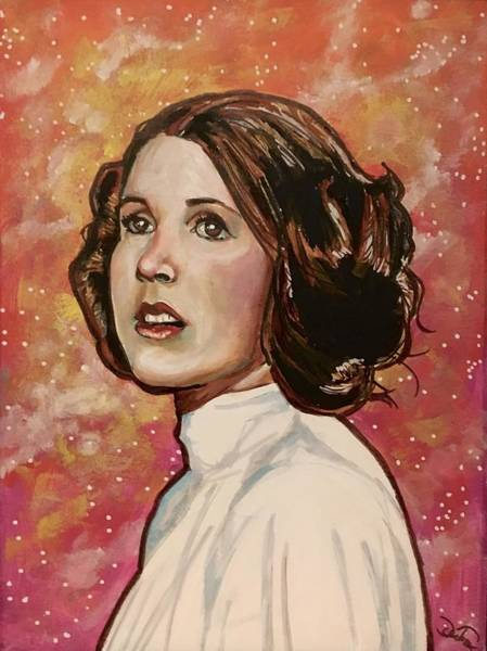 Painting - Princess Leia by Joel Tesch