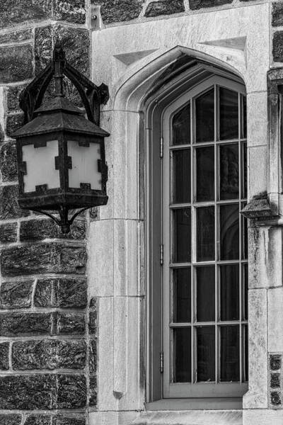 Photograph - Princeton University Window And Lamp  by Susan Candelario