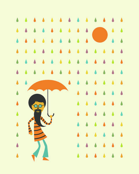 Wall Art - Digital Art - Psychedelic Rain by Jazzberry Blue