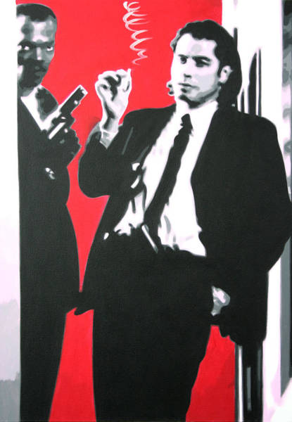 Reservoir Dogs Painting - Pulp Fiction by Luis Ludzska Hood