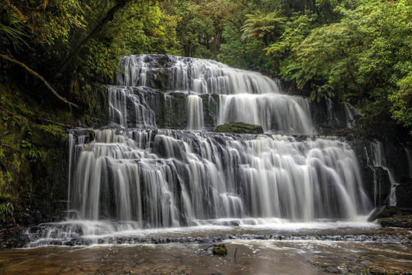 Te Waipounamu Wall Art - Photograph - Purakaunui Falls - New Zealand by Joana Kruse