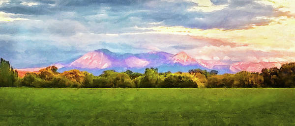 Digital Art - Purple Mountain Sunset by Rick Wicker