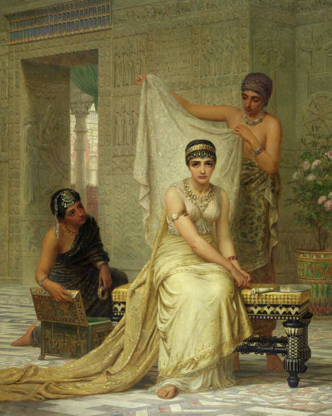 Preparation Painting - Queen Esther by Edwin Long