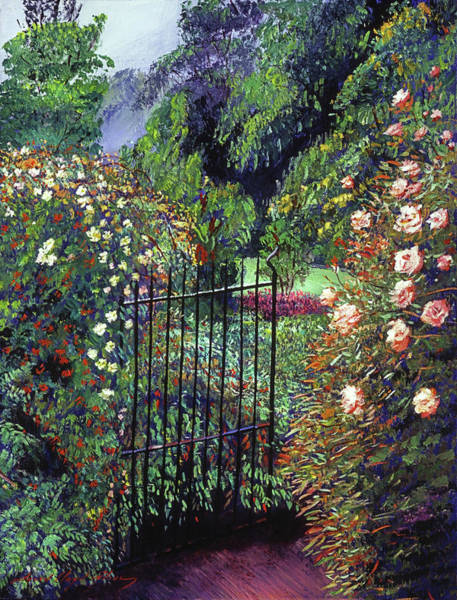 Painting -  Quiet Garden Entrance by David Lloyd Glover