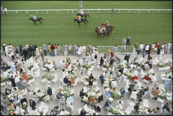 Crowd Photograph - Racing At Baden-baden by Slim Aarons
