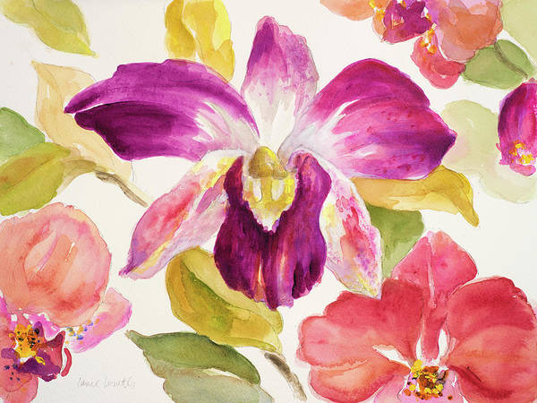 Wall Art - Painting - Radiant Orchid I by Lanie Loreth