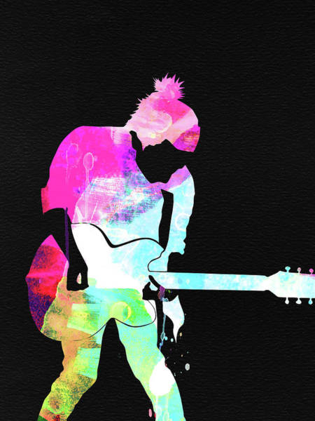 Pop Mixed Media - Radiohead Watercolor by Naxart Studio