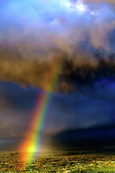 Photograph - Rainbow During Sunset by John Bauer