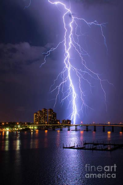 Lightning Bolt Photograph - Raining Bolts 2 by Quinn Sedam