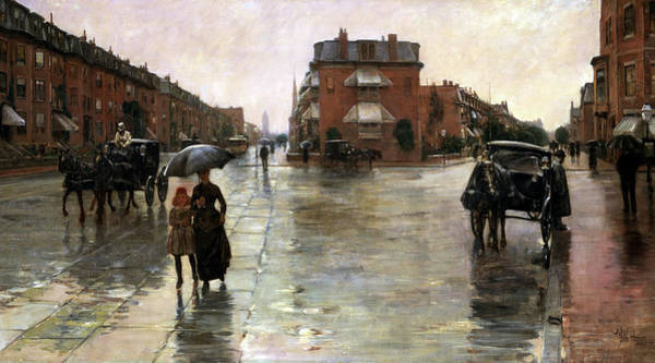 Wall Art - Painting - Rainy Day, Boston, 1885 by Childe Hassam